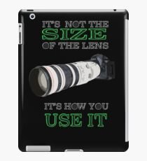 the size of the lens 3 iPad Case/Skin