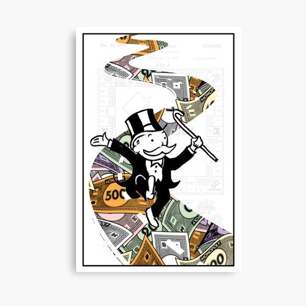 Mr Monopoly - MONEY BRICK ROAD Canvas Print