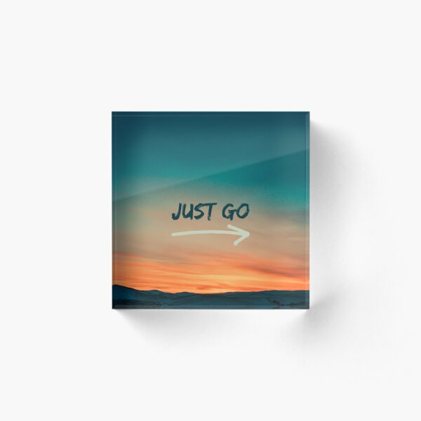 just go quote colourful sky  Acrylic Block