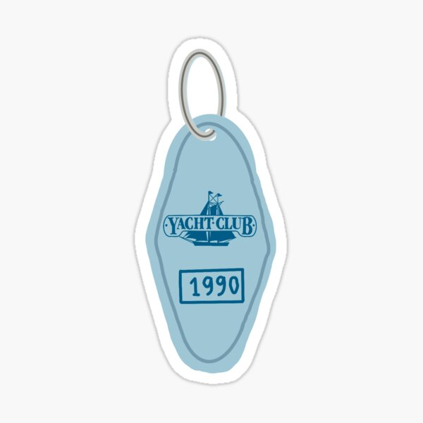 Yacht Club Key Chain Sticker