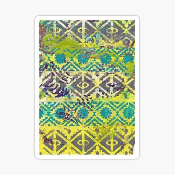Aztec Abstract Vibrant Geometric Sticker
