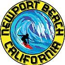 Surfer NEWPORT BEACH California Surfing Surfboard Waves Ocean Beach Vacation by MyHandmadeSigns