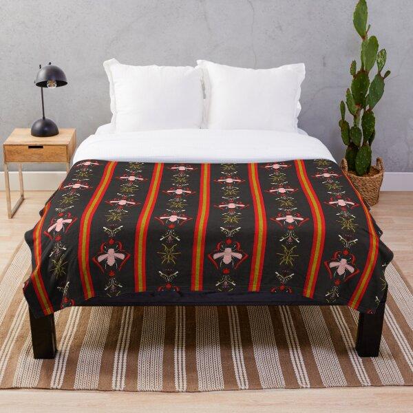 Medical Beetles Kokeshi Throw Blanket