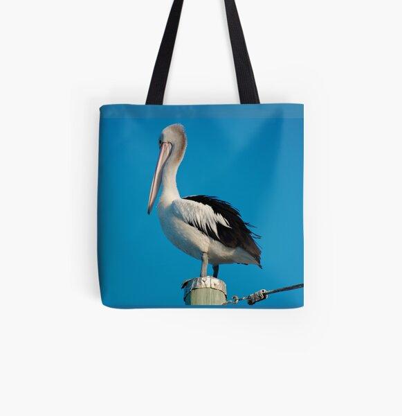 SC ~ MARINE BIRD ~ Australian Pelican 8JKC3396 by David Irwin 230321 All Over Print Tote Bag