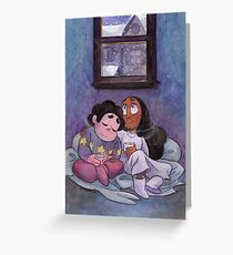 Steven Universe - Steven and Connie Winter Forecast Greeting Card