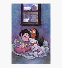 Steven Universe - Steven and Connie Winter Forecast Photographic Print