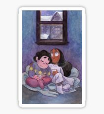 Steven Universe - Steven and Connie Winter Forecast Sticker