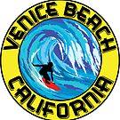Surfer VENICE BEACH California Surfing Surfboard Waves Ocean Beach Vacation by MyHandmadeSigns