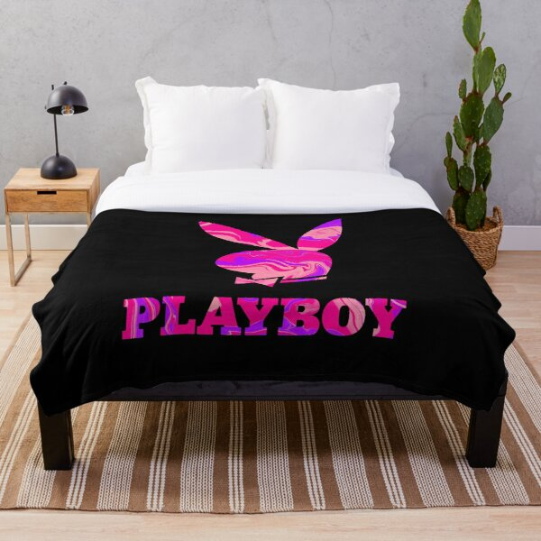 Playboy bunny aesthetics liquify funky cool y2k hot pink Throw Blanket