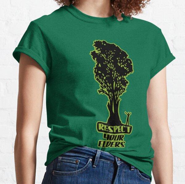 Respect Your Elders Man Admiring Tree Classic T-Shirt