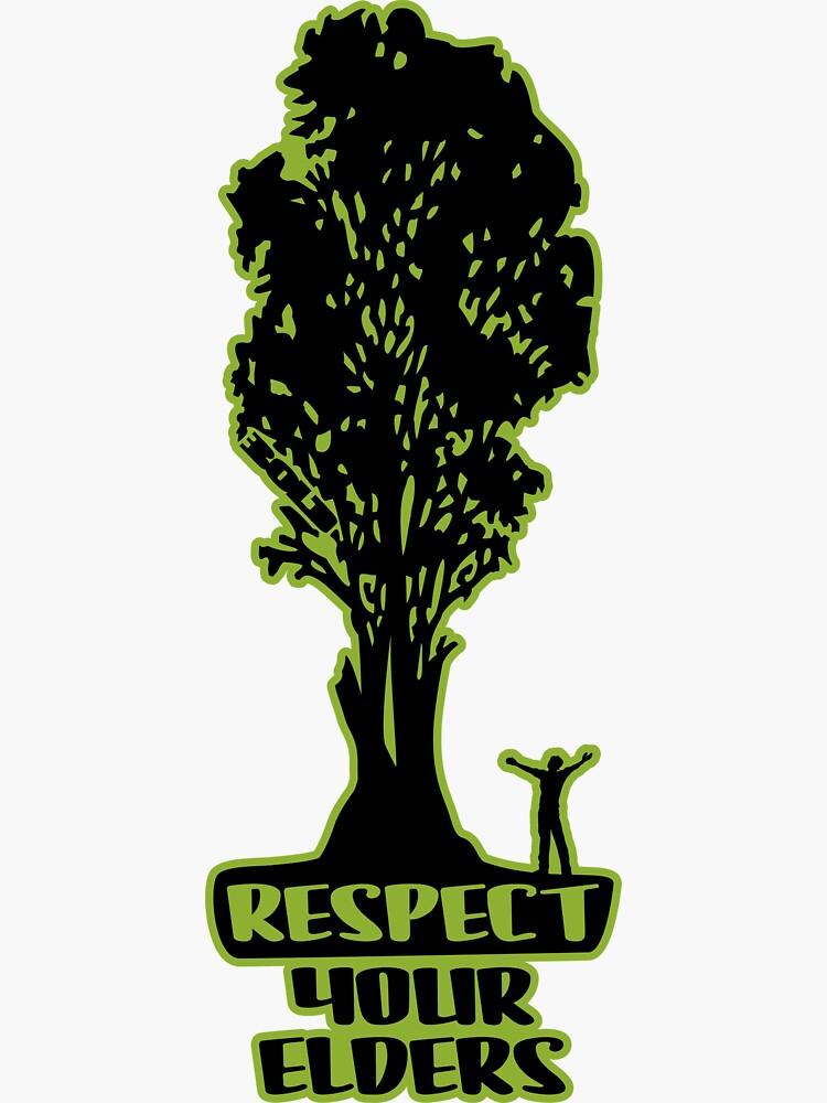 Respect Your Elders Man Admiring Tree by BOLD-Australia