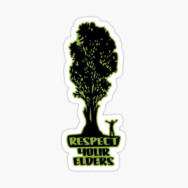 Respect Your Elders Man Admiring Tree Sticker