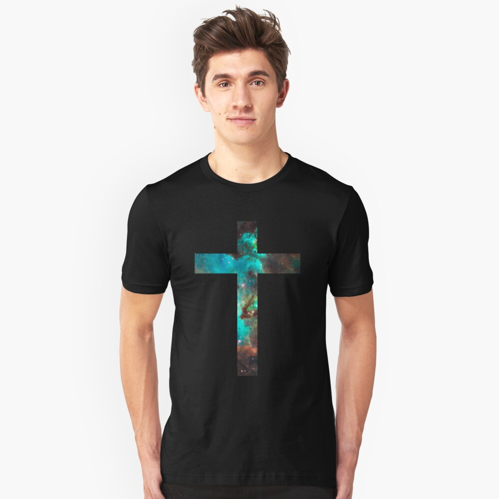 Green Galaxy Cross Camiseta ajustada