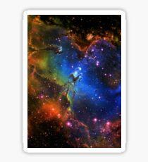 Galaxy Eagle Sticker