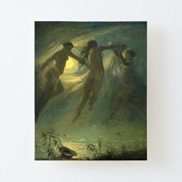 Mermaids - Josef Manés Le Noyé The Drowned 1867 Canvas Mounted Print