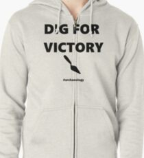 Dig For Victory Zipped Hoodie