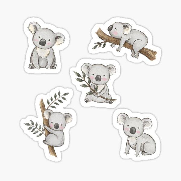 Aussie Animals: Cute Koala Pack Sticker