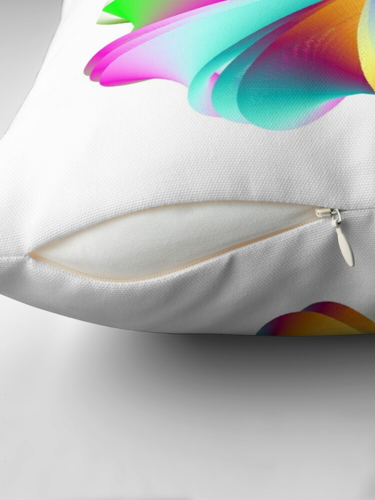 Alternate view of Thermo Nuclear Rainbow Throw Pillow