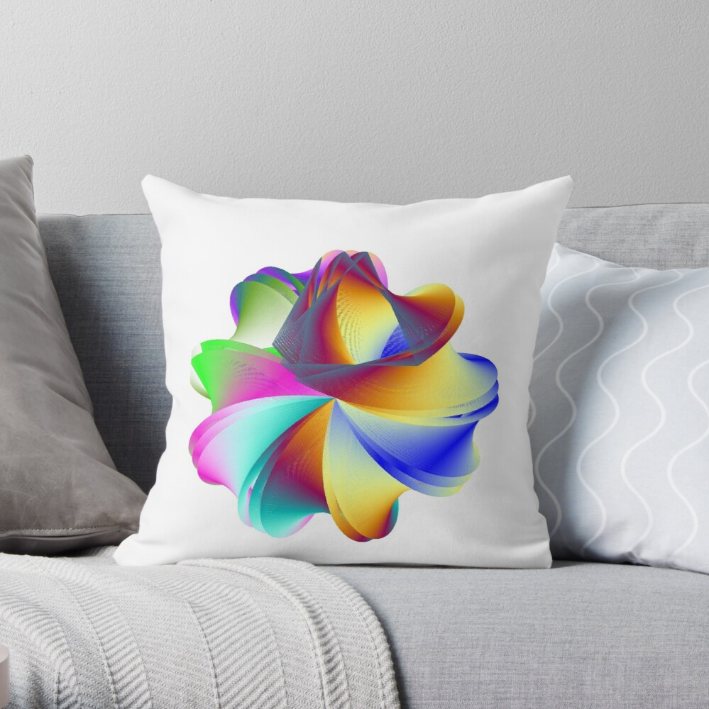 Thermo Nuclear Rainbow Throw Pillow