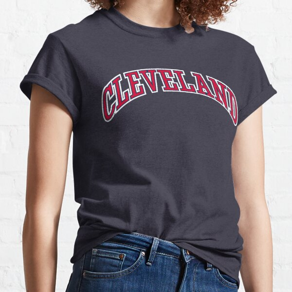 Cleveland, Arch Text - Navy Classic T-Shirt