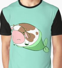 Mermaid Cow Graphic T-Shirt