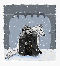 Sheep Snow Photographic Print