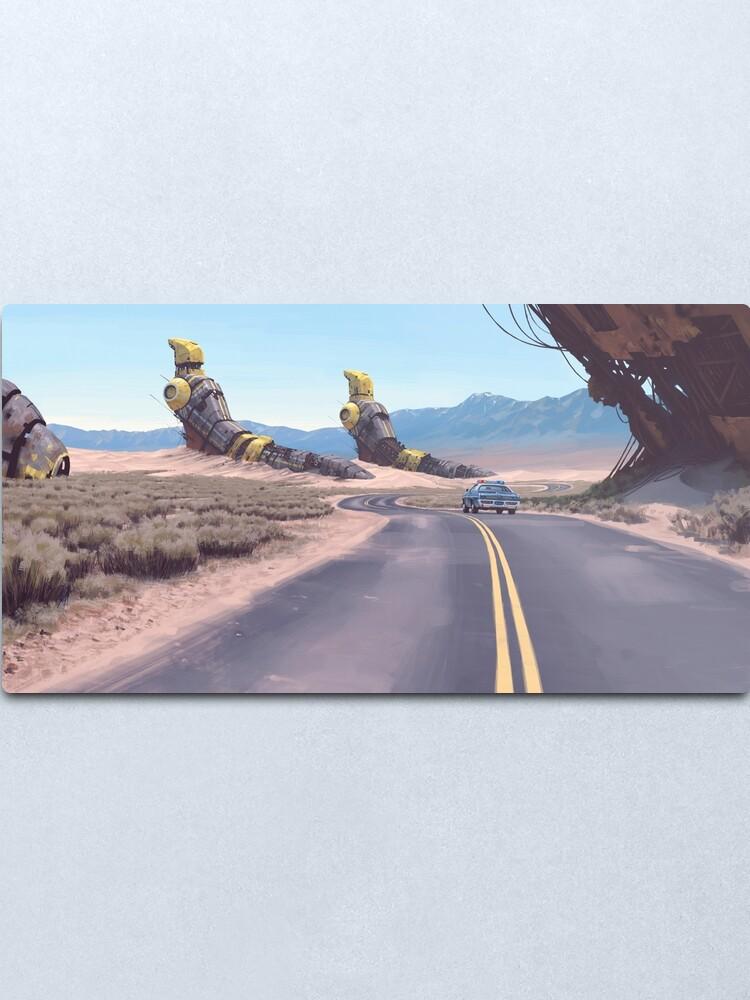 Alternate view of Highway Patrolman Metal Print