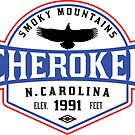 CHEROKEE NORTH CAROLINA GREAT SMOKY MOUNTAINS SMOKIES by MyHandmadeSigns