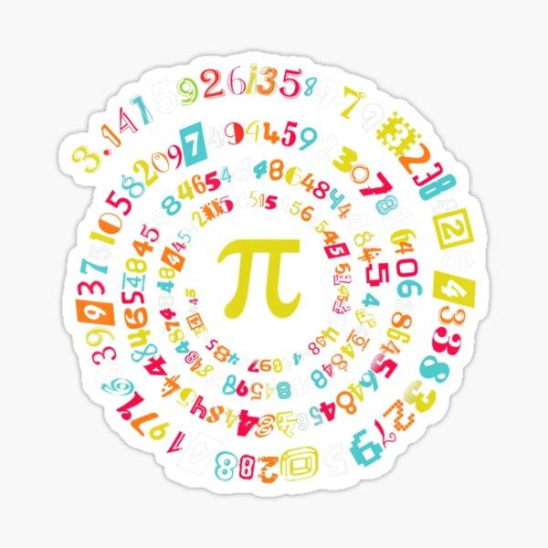 Pi Day Spiral Pi Math For Pi Day 314 Sticker
