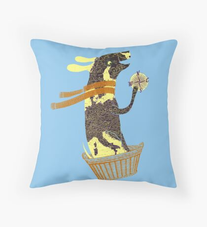 Travel Dog Let's Go Places Throw Pillow