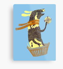 Travel Dog Let's Go Places Metal Print