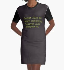 Dancing and encrypting Graphic T-Shirt Dress