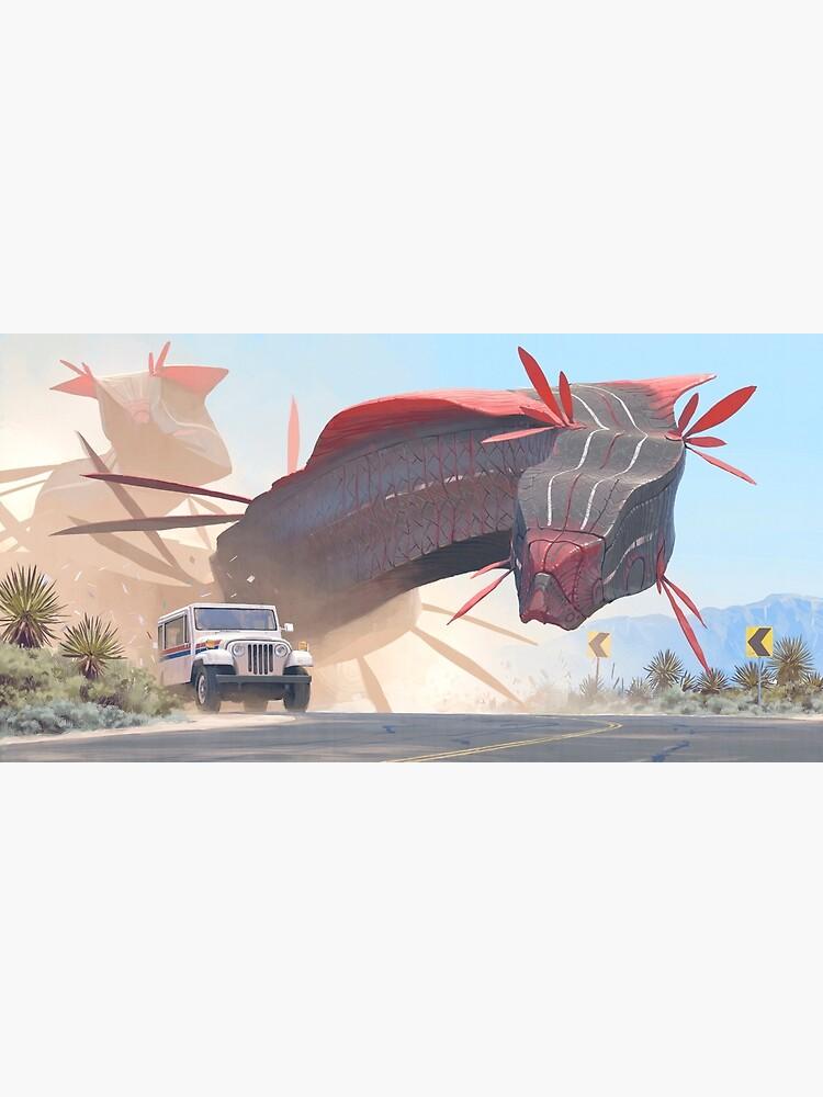 Car And Worms, near Amargosa by simonstalenhag