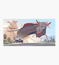 Car And Worms, near Amargosa Photographic Print
