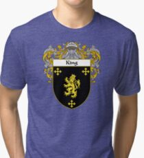 King Coat of Arms/Family Crest Tri-blend T-Shirt