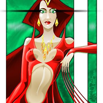 Red Queen Print by JWWright