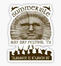Summerisle May Day Festival 1973 Sticker