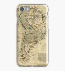 Vintage Map of South America (c. 1712) iPhone Case/Skin