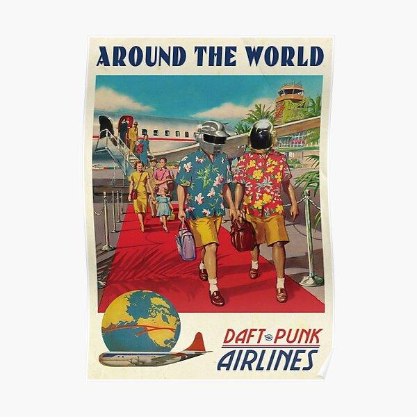 compagnie aérienne dafpunk le monde Poster