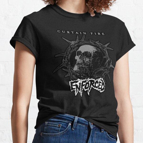 curtain fire skull Classic T-Shirt