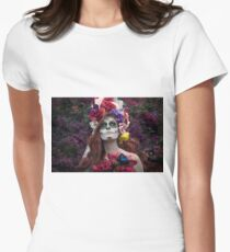 Flowers for the Dead Women's Fitted T-Shirt