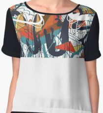 Through Wire and Crystal Women's Chiffon Top