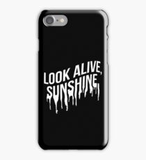 White Drip Text (Black) iPhone Case/Skin