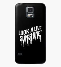 Weißer Tropftext (Schwarz) Hülle & Klebefolie für Samsung Galaxy