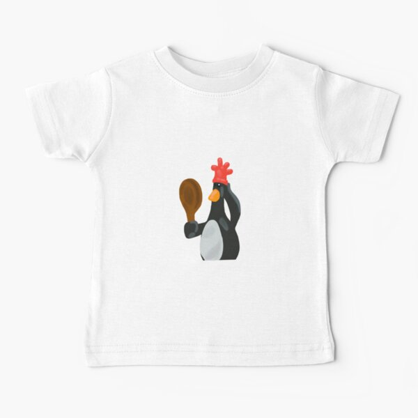 Penguin Wallace and Gromit Feathers McGraw Baby T-Shirt