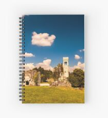 ancient and ruined castle in the italian countryside Spiral Notebook