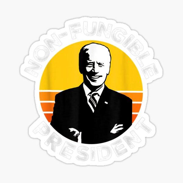 NFT Crypto Non-Fungible President Joe Biden 100 Sticker
