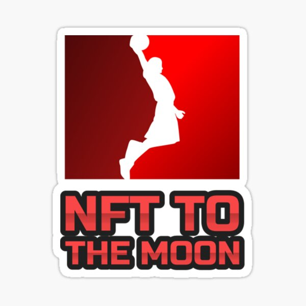 NFT to the moon Sticker