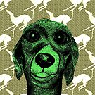 GREYHOUND THOUGHTS g601 by Hares & Critters