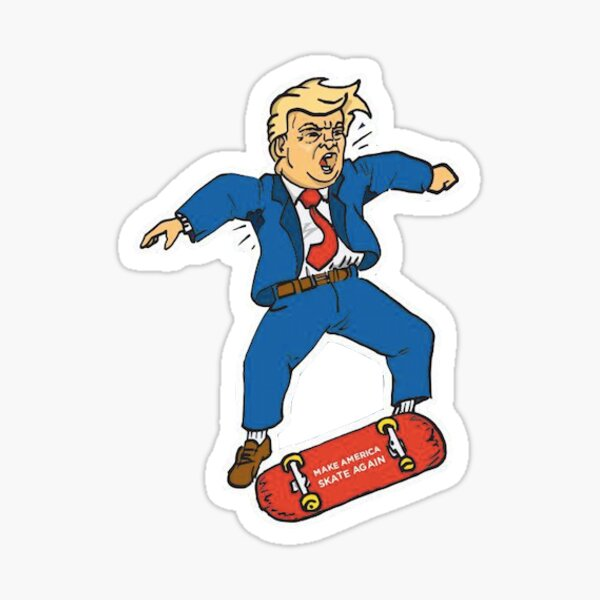 Make America Skate Again X Dump Trump Sticker